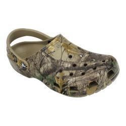 Men's Crocs Classic Realtree Xtra Clog Khaki