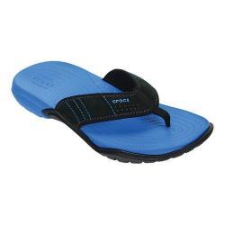 Men's Crocs Swiftwater Flip Flop Sandal Ocean/Black