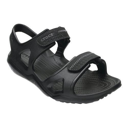 9cda5ca069f Shop Men s Crocs Swiftwater River Sandal Black Black - Free Shipping On  Orders Over  45 - Overstock.com - 17264725