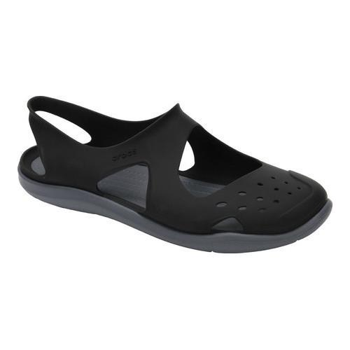 d54694a43b Shop Women s Crocs Swiftwater Wave Slingback Black - Free Shipping On  Orders Over  45 - Overstock - 17264741