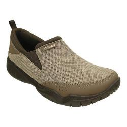Men's Crocs Swiftwater Mesh Moc Slip-on Khaki/Espresso