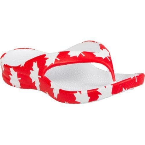 c5f87da56 Shop Children s Dawgs Dawgs Collection Flip Flop Canada Red White - Free  Shipping On Orders Over  45 - Overstock - 17264764