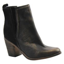 Women's Diba True Later On Bootie Black/Gold Suede/Leather