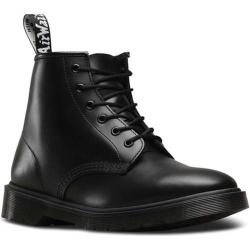 Dr. Martens 101 6-Eye Boot Black Brando Full Grain Waxy Leather