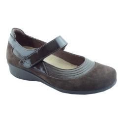 Women's Drew Genoa Mary Jane Brown Leather