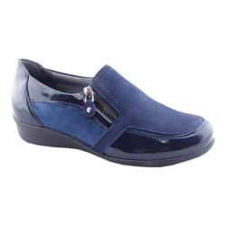 Women's Drew Padua Wedge Navy Leather