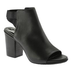 Women's Kenneth Cole Reaction Fridah Fly Open Toe Bootie Black Leather