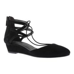 Women's Kenneth Cole Reaction Why Not Ghillie Flat Black Suede