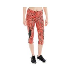 Women's Lole Run Capri Ruby Foliage