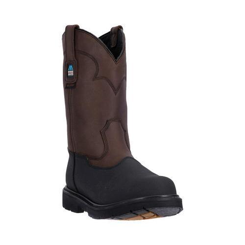 Men's McRae Industrial 11in Waterproof Soft Toe MR85100 Dark Brown Leather