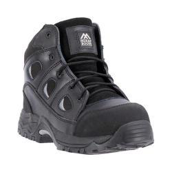 Men's McRae Industrial 6in Non Metallic Composite Toe MR86300 Black Full Grain Leather