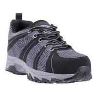 Men's McRae Industrial Non Metallic Composite Toe MR83002 Black/Grey Woven Fabric