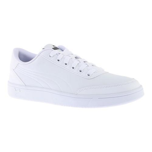 436bc86a7280 Shop Men s PUMA Court Breaker L Court Shoe PUMA White PUMA White Mono -  Free Shipping On Orders Over  45 - Overstock - 17265461