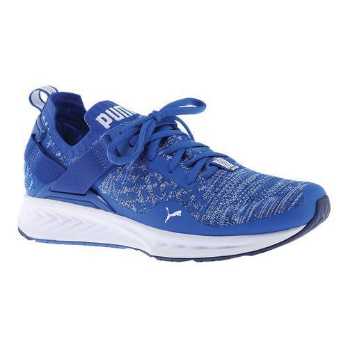 01ceca3c0d4906 Shop Men s PUMA IGNITE evoKNIT Lo Sneaker Lapis Blue Blue Depths ...