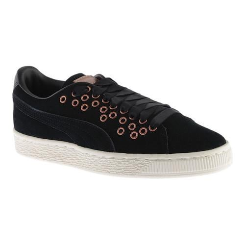 4eb6f0d624a989 Shop Women s PUMA Suede XL Lace Sneaker PUMA Black PUMA Black (Velvet Rope)  - On Sale - Free Shipping Today - Overstock - 17265480