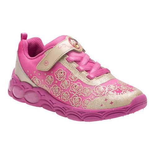Shop Girls  Stride Rite Belle Of The Ball Light Up Sneaker Gold  Leather Mesh - Free Shipping Today - Overstock - 17265637 3fb37d608bb2
