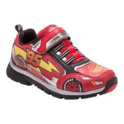 Boys' Stride Rite Cars Lightning Speed Light Up Sneaker Red Leather/Mesh
