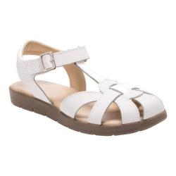 Girls' Stride Rite SR Summer Time Sandal White Leather (More options available)