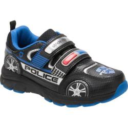 Boys' Stride Rite Vroomz Police Cruiser Sneaker - Preschool Black/Silver Leather