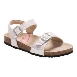 Girls' Stride Rite Zuly Cork Sandal Silver Synthetic