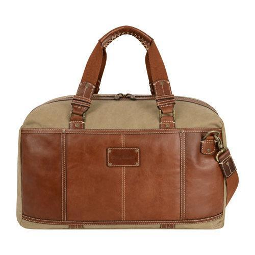 Tommy Bahama The Casual Bag Duffle Khaki/Cognac (Red) (On...