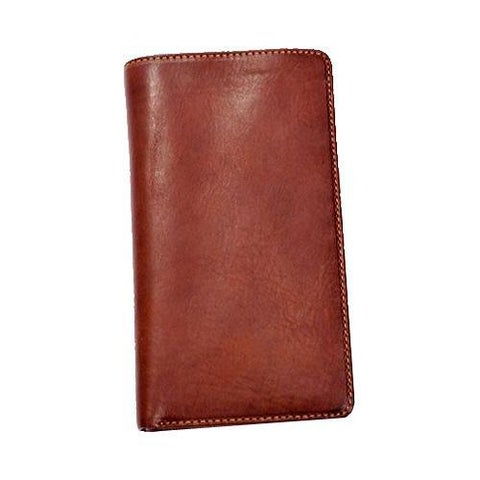 Men's Tony Perotti Prima Breast Secretary Bi-Fold Wallet Brown