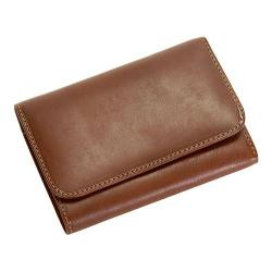 Women's Tony Perotti Prima Tri-Fold Wallet with I.D. and Coin Pocket Cognac