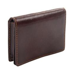 Men's Tony Perotti Ultimo Business and Credit Card Wallet with I.D. Brown