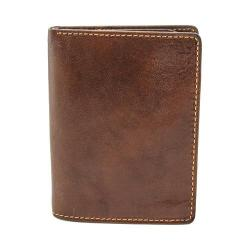 Men's Tony Perotti Ultimo Front Pocket Wallet with ID Flap Card Case Cognac
