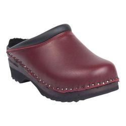 Women's Troentorp Bastad Clogs Kandinsky Shearling Clog Bordeaux Leather