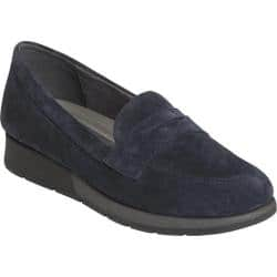 Women's Aerosoles Time Off Penny Loafer Navy Suede|https://ak1.ostkcdn.com/images/products/194/850/P23542397.jpg?impolicy=medium