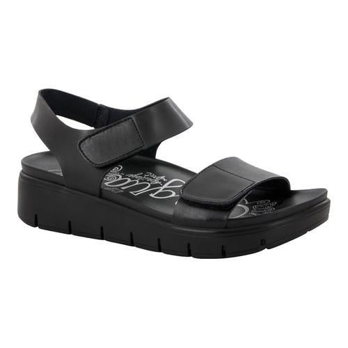 1e494ed1d28e80 Shop Women s Alegria by PG Lite Playa Platform Strappy Sandal Black Nappa  Leather - Free Shipping Today - Overstock - 17292904