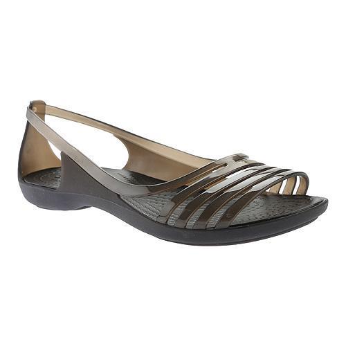 d1d3384ca1e Shop Women s Crocs Isabella Huarache Flat Black - Free Shipping On Orders  Over  45 - Overstock.com - 17292935