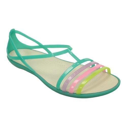 Womens Shoes  Womens Sandals Womens Crocs Isabella Sandal  Island Green