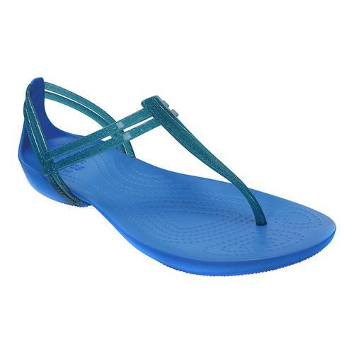 4b6268ef3f4727 Shop Women s Crocs Isabella T-strap Sandal Blue - Free Shipping On Orders  Over  45 - Overstock.com - 17292958