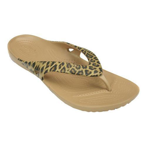 6c9c30e6a8f8 Shop Women s Crocs Kadee II Leopard Print Flip Flop Sandal Gold - Free  Shipping On Orders Over  45 - Overstock - 17292968