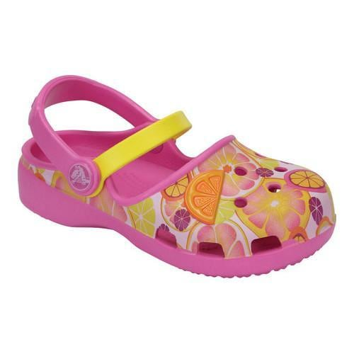 3a7cd86f30a3 Shop Girls  Crocs Karin Novelty Clog Kids Party Pink Lemon - Free Shipping  On Orders Over  45 - Overstock - 17292983