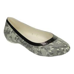 Women's Crocs Lina Shiny Flat Oyster/Black