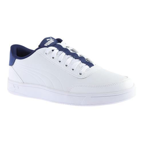5378afcd1d3 Shop Men s PUMA Court Breaker L Court Shoe PUMA White Blue Depths - Free  Shipping On Orders Over  45 - Overstock - 17293071