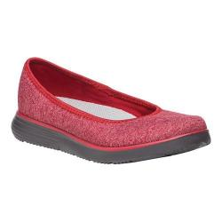 Women's Propet TravelFit Flat Slip On Red Stretch Jersey