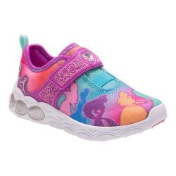 Girls' Stride Rite Princesses Unite Light Up Sneaker Rainbow Leather/Mesh