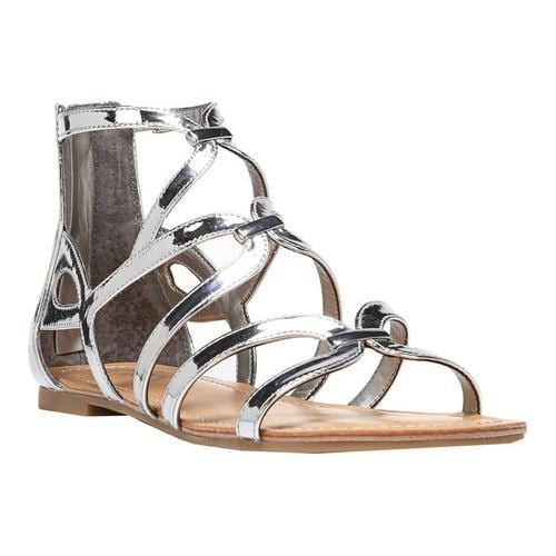 b4cab01eece2 Shop Women s Carlos by Carlos Santana Emma Strappy Sandal Liquid Metallic  Silver Polyurethane - Free Shipping Today - Overstock - 17306629
