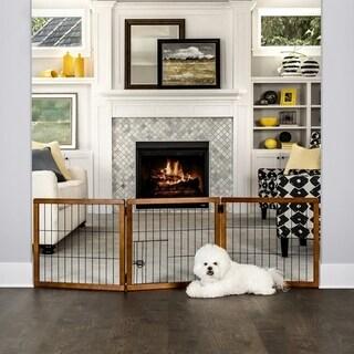 Carlson Pet Design Paw 3 Panel Wooden Gate