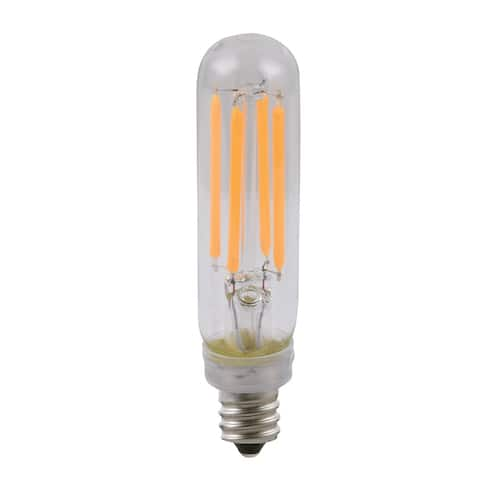 Goodlite LED T6 Tubular 4.5W Filament 60W equivalent 500 Lumens Dimmable (10 Pack) - Clear
