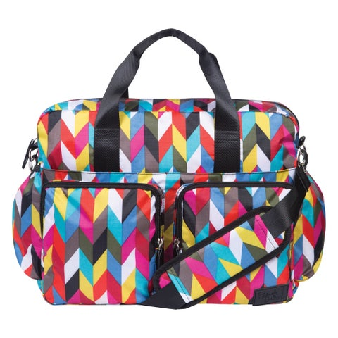 French Bull by Trend Lab Ziggy Condensed Deluxe Duffle Diaper Bag
