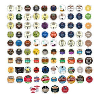 Van Houtte, Emerils, Green Mountain, Starbucks, Barista Primahouse & Other Branded Coffees K-Cup for Keurig Brewers, 95 Count