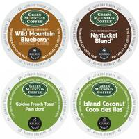 Green Mountain Wild Mountain Blueberry, Nantucket Blend, Golden French Toast & Island Coconut Coffee, K-Cups, 48 Count