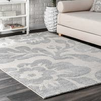 nuLoom Contemporary Floral Grey Rug - 8' x 10'