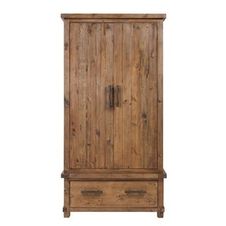 Rustic Brown Wood Country Armoire