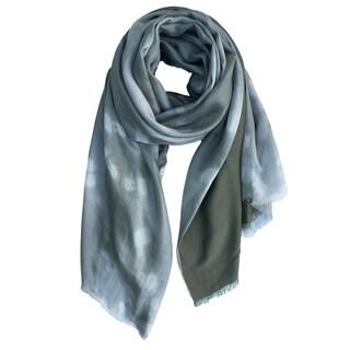 Hand Dyed and Handmade Silk Linen Shibori Scarf Shawl